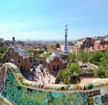 BARCELONA, SPANIEN: Der berühmte Park Guell