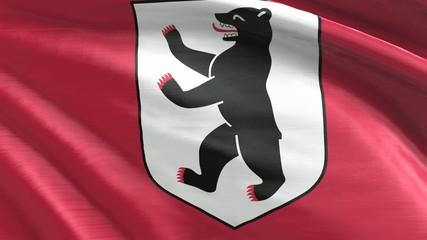 Nahtlos wiederholende Flagge Berlin
