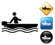 Water motorsports pictogram and signs