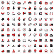 100 Web Icons: red