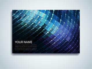 Shiny Mosaic Business Card