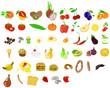 früchte vektor set