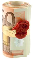 rouleau billets 50 euros