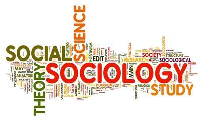 Sociology in word tag cloud