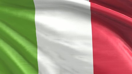 Nahtlos wiederholende Flagge Italien