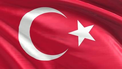 Nahtlos wiederholende Flagge Türkei