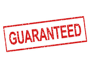 "Rubber stamped ""Guaranteed"""