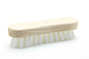 wooden cleaning scrub brush