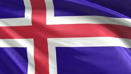 Nahtlos wiederholende Flagge Island