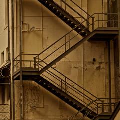 Fire escape stairs, architecture