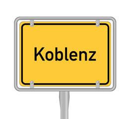 Ortsschild, Koblenz