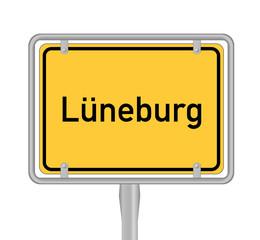 Lüneburg, Ortsschild