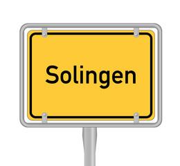 Ortsschild, Solingen