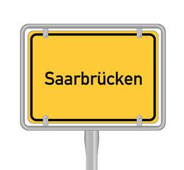 Saarbrücken, Ortsschild