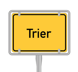 Ortsschild, Trier