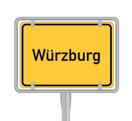 Ortsschild; Würzburg
