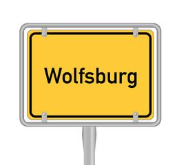 Wolfsburg, Ortsschild