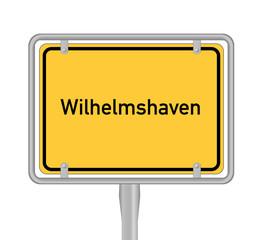 Ortsschild wilhelmshaven