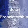 Sole proprietorship background concept