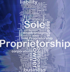 Sole proprietorship background concept