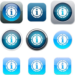 Information blue app icons.