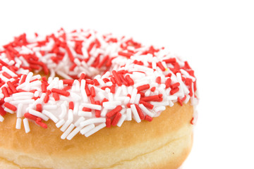 A White and Red donut