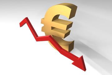 Euro fällt