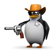 3d Penguin is the sheriff in this town