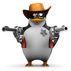 3d Penguin wants to know if you feel lucky punk