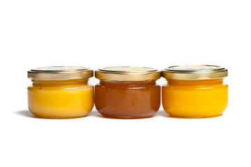 Jars of honey.
