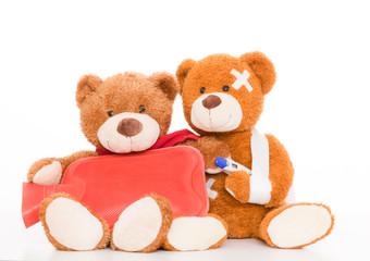 2 kranke bären