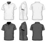 Vector. Men's polo-shirt design template. No mesh.