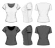 Vector. Women's t-shirt design template. No mesh.