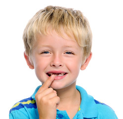 Toothless boy