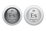 Einsteinium - two glossy web buttons