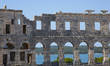 Famous Roman amphitheatre, ancient monument.