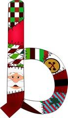 b christmas patch alphabet