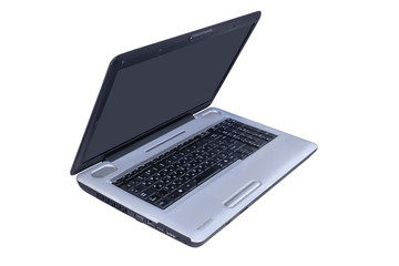 The laptop on a white background