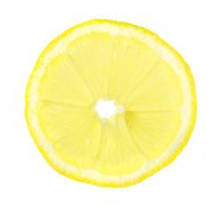 Zitronenscheibe freigestellt
