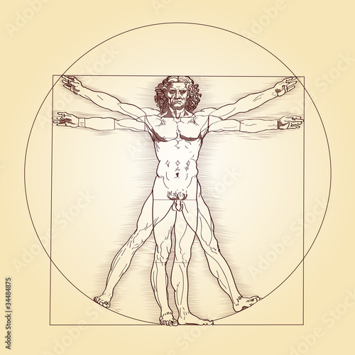 Vitruvianischer Mensch - Leonardo da Vinci