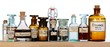 Various pharmacy bottles of homeopathic medicine - 34485047