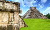 Kukulkan pyramid of Chichen Itza in Mexico, one of 7 New Wonders