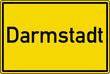 Darmstadt Ortstafel Ortseingang Schild Verkehrszeichen