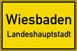 Wiesbaden Ortstafel Ortseingang Schild Verkehrszeichen