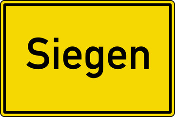 Siegen Ortstafel Ortseingang Schild Verkehrszeichen
