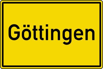 Göttingen Ortstafel Ortseingang Schild Verkehrszeichen