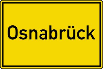 Osnabrück Ortstafel Ortseingang Schild Verkehrszeichen