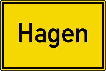 Hagen Ortstafel Ortseingang Schild Verkehrszeichen