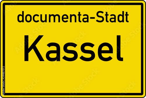 Kassel Ortstafel Ortseingang Schild Verkehrszeichen