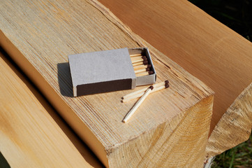 Matches on the wood